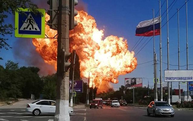 Rusiyada yanacaqdoldurma məntəqəsində partlayış - 13 yaralı + Video