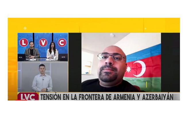 Argentina telekanalında Ermənistanın işğalçı siyasətindən danışılıb