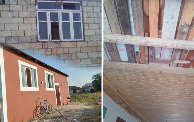 Tovuzda yaralanan əsgərin evi təmir olunub