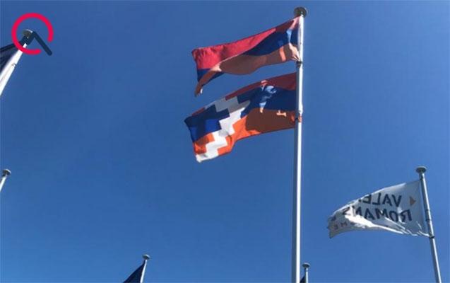 """Fransanın bu şəhərində qondarma rejimin də """"bayrağı"""" asılıb - Foto"""