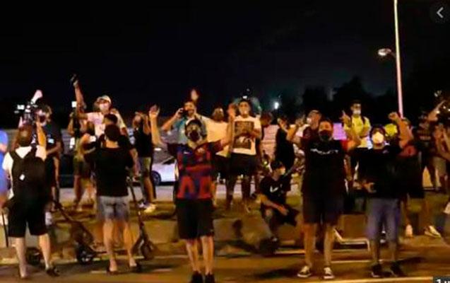 """""""Barselona"""" azarkeşləri etiraz aksiyasına başladı - Foto+Video"""