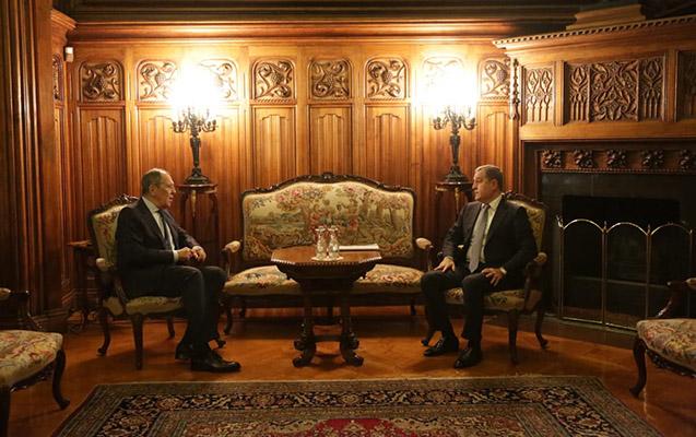 Ceyhun Bayramov Lavrovla görüşdü - Foto