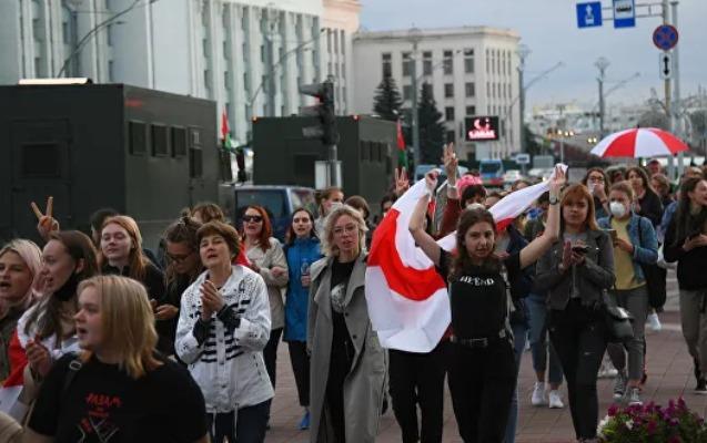 Minskdə qadınlar etiraz aksiyası keçirdi