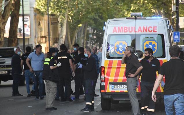 Tbilisidə partlayış - 1 ölü, 3 yaralı + Video
