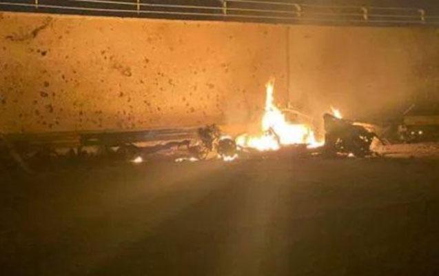 Bağdadda hava limanına raketlər atıldı