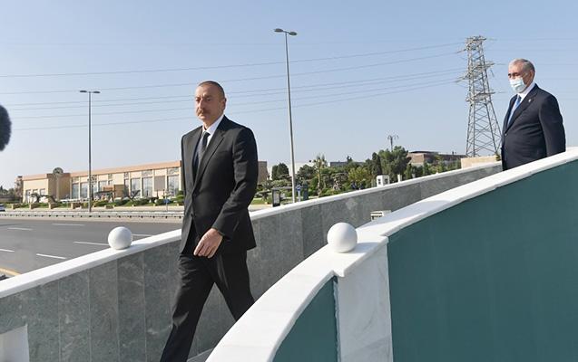 İlham Əliyev piyada keçidinin açılışında