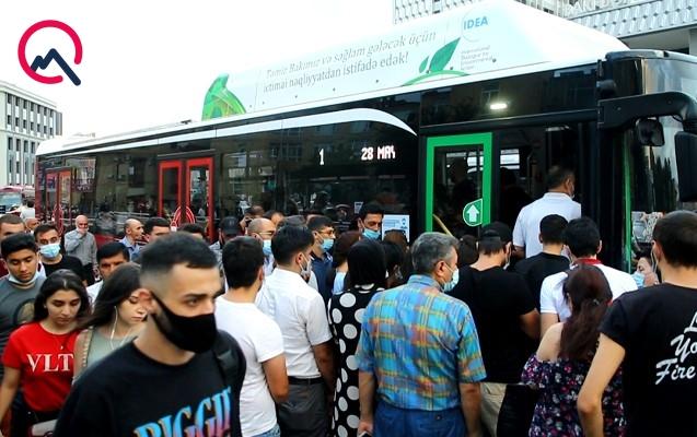 """""""Sıxlıq olan avtobuslara minməyin"""" çağırışından sonrakı vəziyyət"""