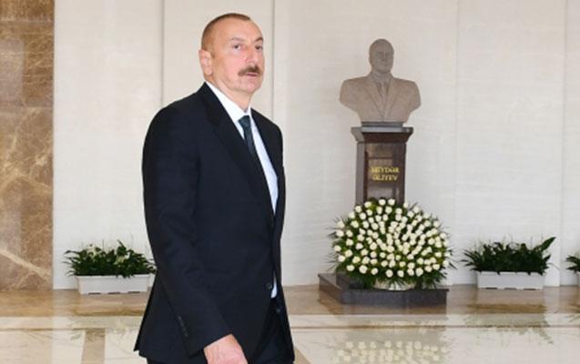 İlham Əliyev Sumqayıtda da açılışa qatılıb