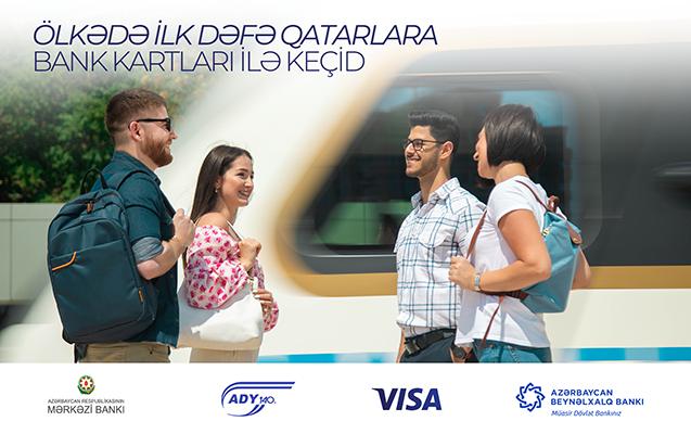 Elektrik qatarlarında ilk dəfə gediş haqqını təmassız bank kartları ilə ödəmək imkanı