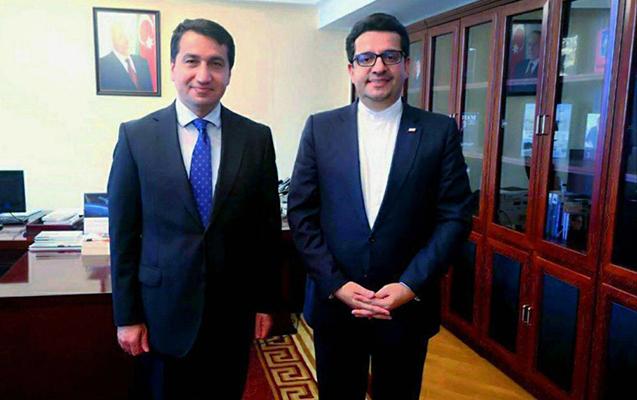 Prezidentin köməkçisi İran səfiri ilə görüşdü