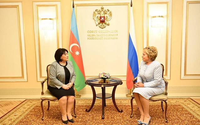 Sahibə Qafarova Valentina Matviyenko ilə görüşdü
