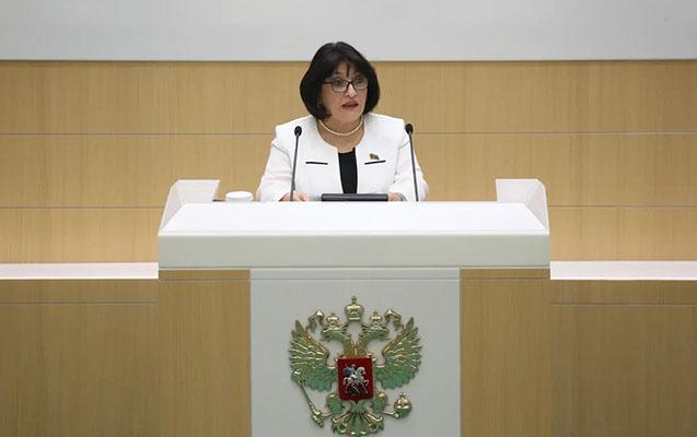 Sahibə Qafarova Rusiya Federasiya Şurasında Qarabağdan danışdı