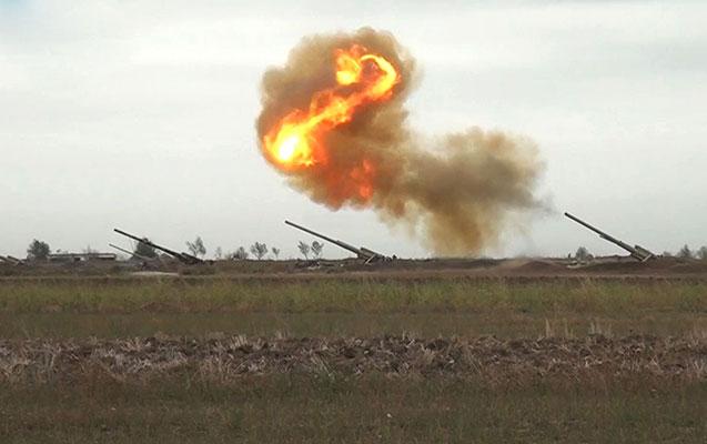 Ağdərə istiqamətində düşmənin artilleriya bölmələrinə zərbələr endirildi