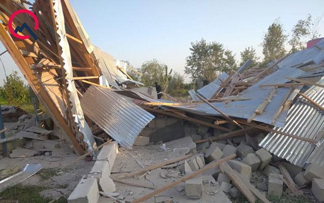 Ermənilər Tərtərdə dövlət binalarını vurdu, 7 mülki şəxs yaralandı