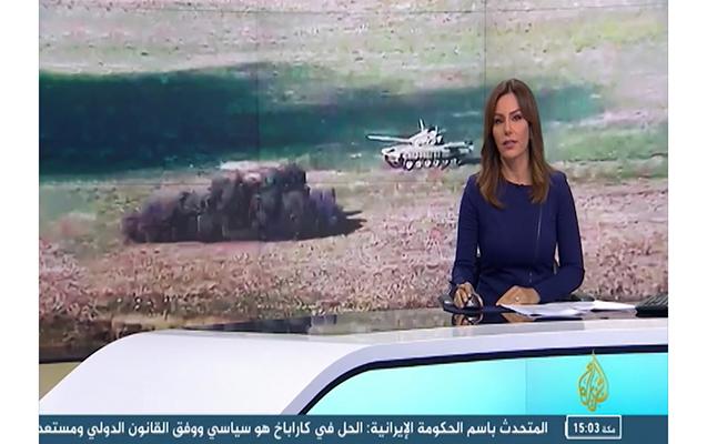 """""""Al Jazeera"""" cəbhə xəttindən daha bir reportaj yayımlayıb"""
