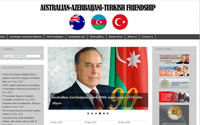 Avstraliyada Qarabağ həqiqətlərini yayan portal yaradıldı