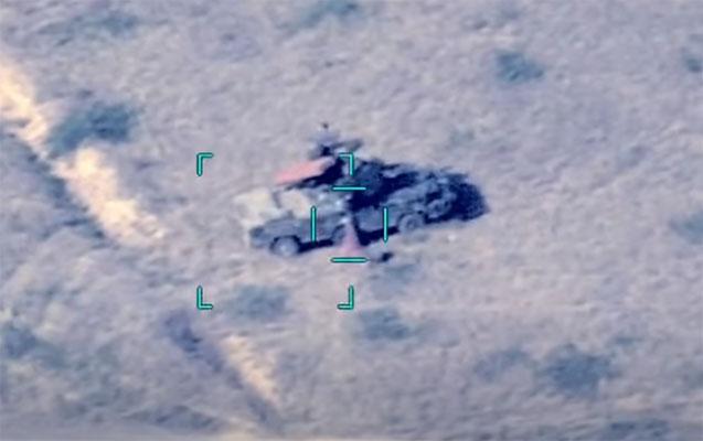 Ordumuz düşmənin daha bir neçə hərbi texnikasını məhv etdi