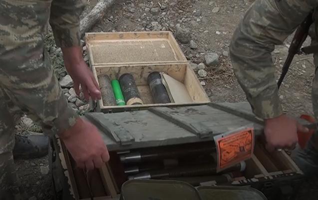 Bu gün ələ keçirilən düşmənin silah-sursatı - Video