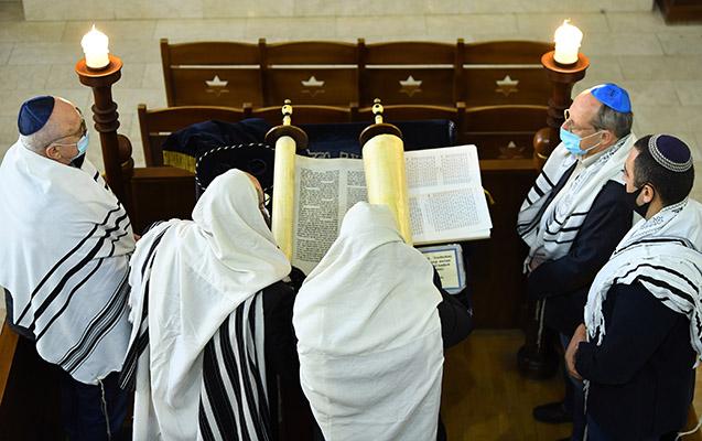 Bakıdakı sinaqoqda ordumuz üçün dualar edilib - Fotolar