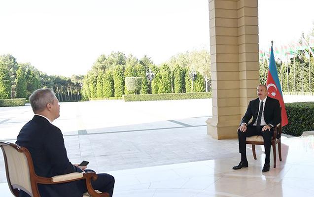 İlham Əliyev Rusiyanın RBK kanalına müsahibə verib