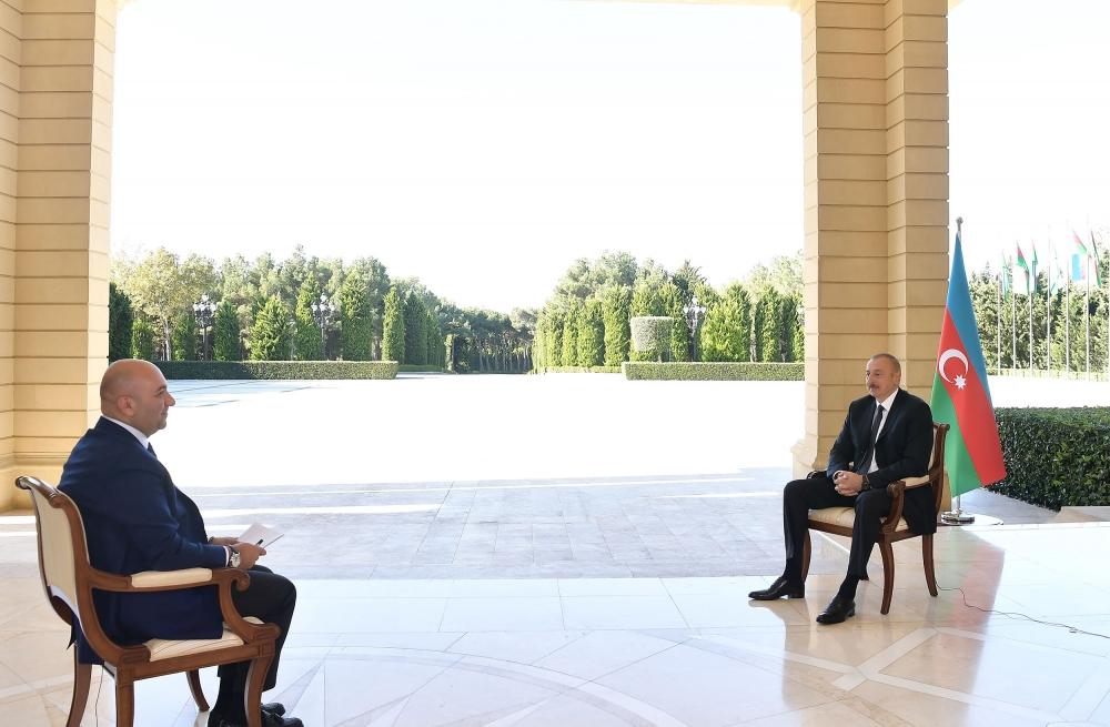 """İlham Əliyev """"Haber Türk""""ə müsahibə verdi - Foto"""