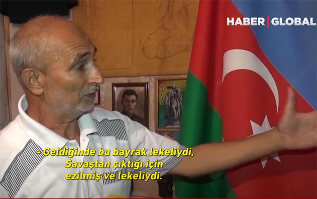 28 il öncə düşməndən xilas edilən bu bayraq Şuşanı gözləyir