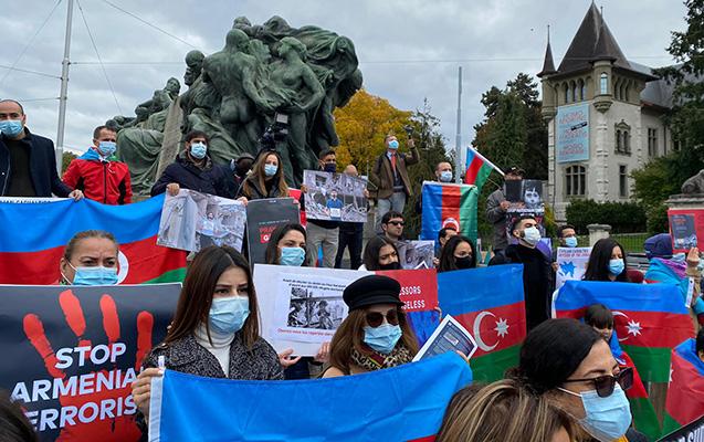 İsveçrədə erməni terroruna etiraz aksiyası keçirildi