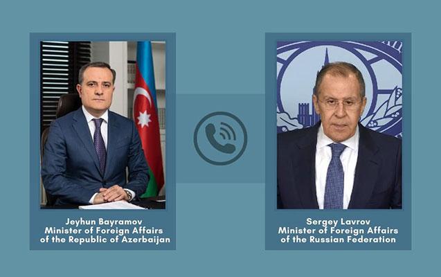 Bayramov Lavrovla ermənilərin Gəncəyə terror hücumundan danışdı