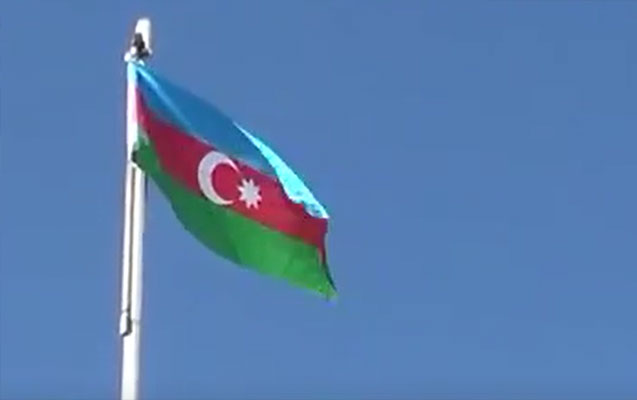 Füzuli şəhərinin mərkəzində Azərbaycan bayrağı qaldırıldı