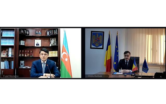 Fuad Muradov Rumıniyanın Dövlət katibi ilə görüşdü