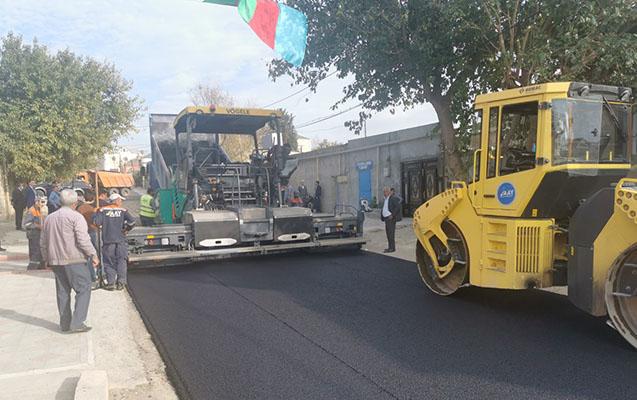 Suraxanıda yolların asfaltlanması davam etdirilir