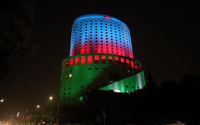 İordaniyada Azərbaycan bayrağı işıqlandırıldı