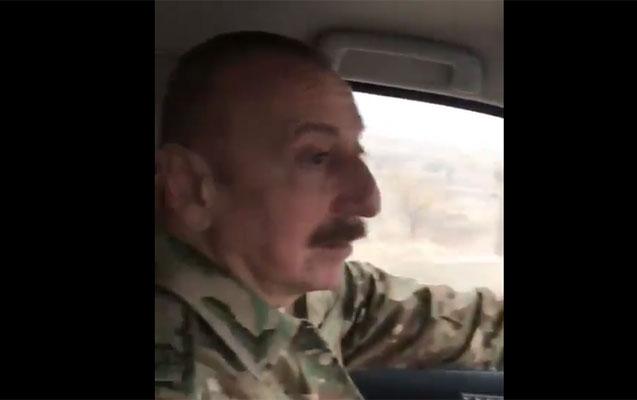 Prezident özü maşın sürüb Xudafərinə getdi - Video