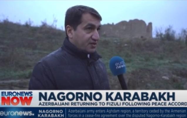 """""""Euronews"""" Füzuli şəhərindən süjet hazırlayıb"""