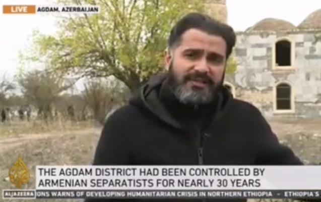 """""""Al Jazeera"""" Ağdamdan reportaj hazırlayıb"""