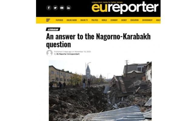 """""""EU Reporter"""": Azərbaycan regionda yeni reallıq yaratdı"""