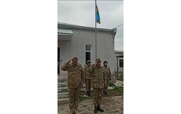 Şellidə Azərbaycan bayrağı ucaldıldı