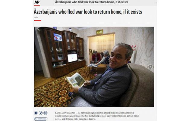"""""""Associated Press"""" azərbaycanlı köçkünlərin evlərinə qayıtmaq arzularından yazdı"""