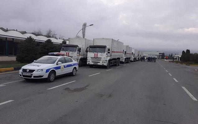 Rusiya FHN Şuşa və Xankəndiyə humanitar yardım göndərdi