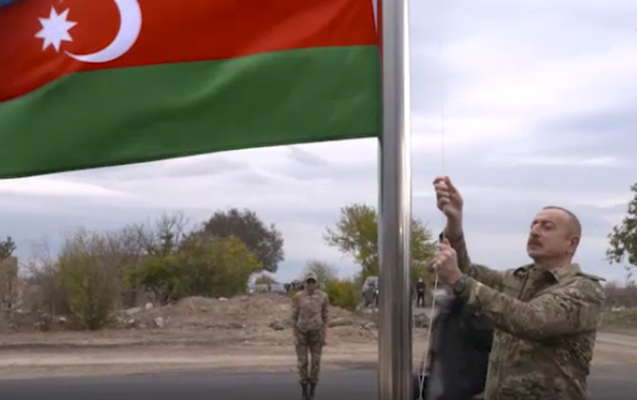 Prezident Ağdamda bayrağımızı ucaltdı