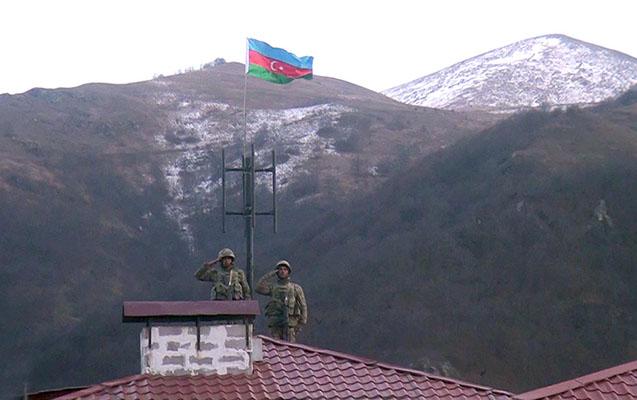Kəlbəcərdə Azərbaycan bayrağı qaldırıldı