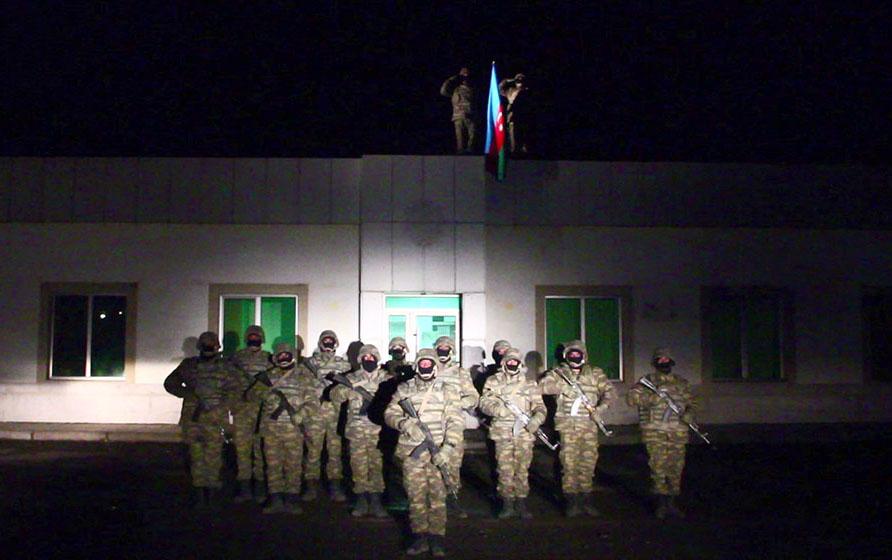 Laçında Azərbaycan bayrağı qaldırıldı - Video