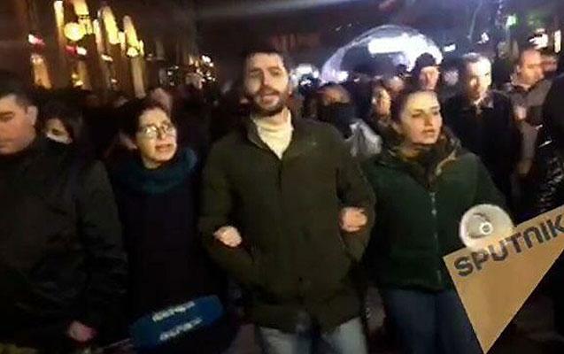 Yerevanda aksiyada 35 müxalifətçi saxlanıldı