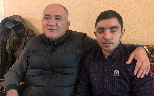 Firdovsi Umudov iki gözünü itirən qazini ziyarət etdi - Video