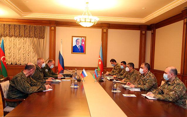 Zakir Həsənov rus sülhməramlıların komandanı ilə görüşdü