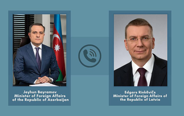 Azərbaycan və Latviya XİN rəhbərləri telefonla danışdı