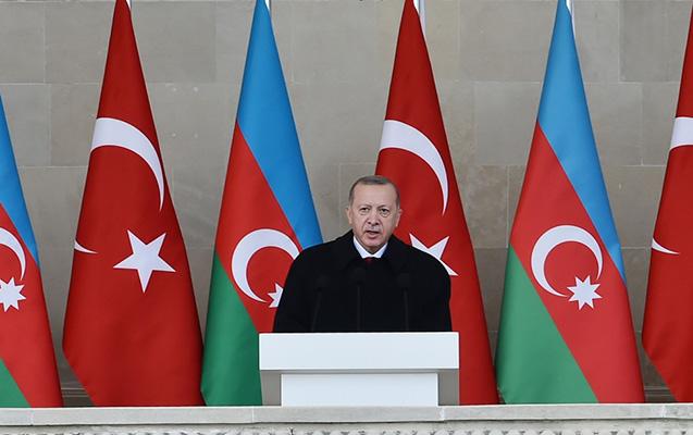 Ərdoğan Azərbaycana təşəkkür etdi.