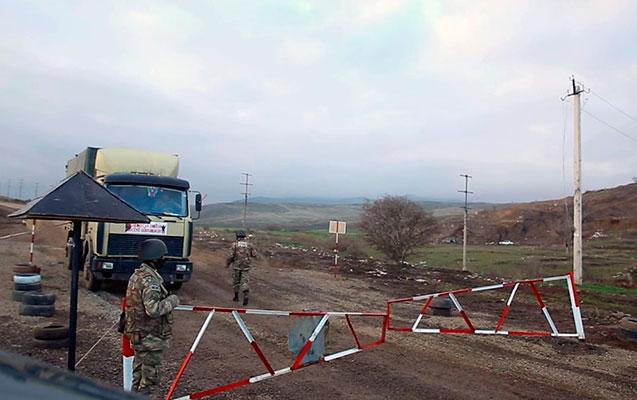 Hərbi polis azad edilmiş ərazilərdə təhlükəsizliyi təmin edir - Video
