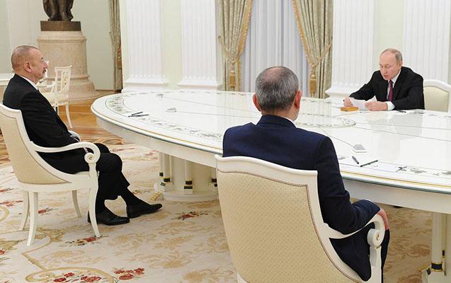 İlham Əliyev, Putin və Paşinyan bəyanat imzaladı