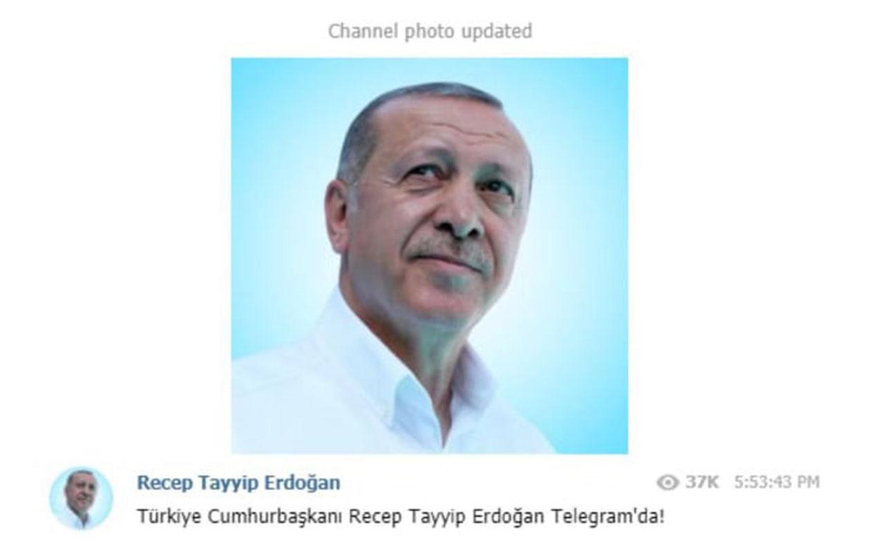 """Ərdoğan """"Telegram"""" və """"BİP""""də kanal açdı"""